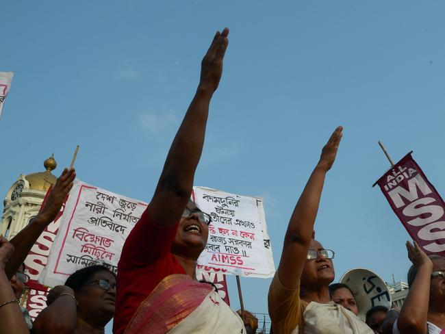 Indian protests have come amid a growing uproar over the killings in Uttar Pradesh, with the United Nations saying violence against women should be regarded as a matter of basic human rights.