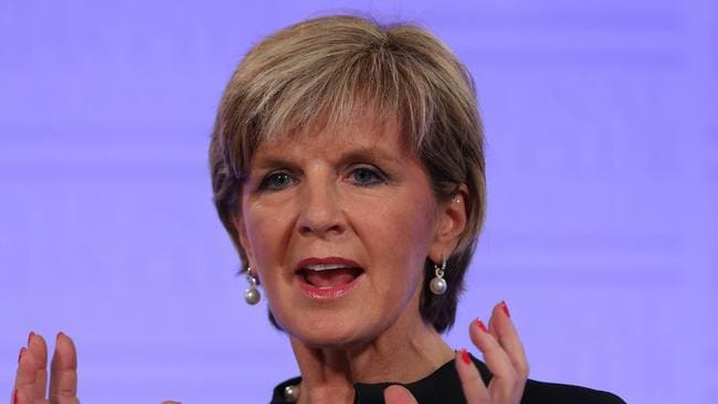 Kim Jong-un comments ... North Korea has labelled Foreign Affairs Minister Julie Bishop a US stooge. Picture: Gary Ramage