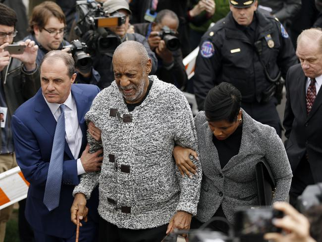 Facing the charges ... Bill Cosby arrives at court. Picture: AP