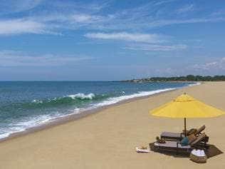 ESCAPE: SHANGRI LA'S HAMBANTOTA RESORT, SRI LANKA .. beach scene. Picture: Supplied