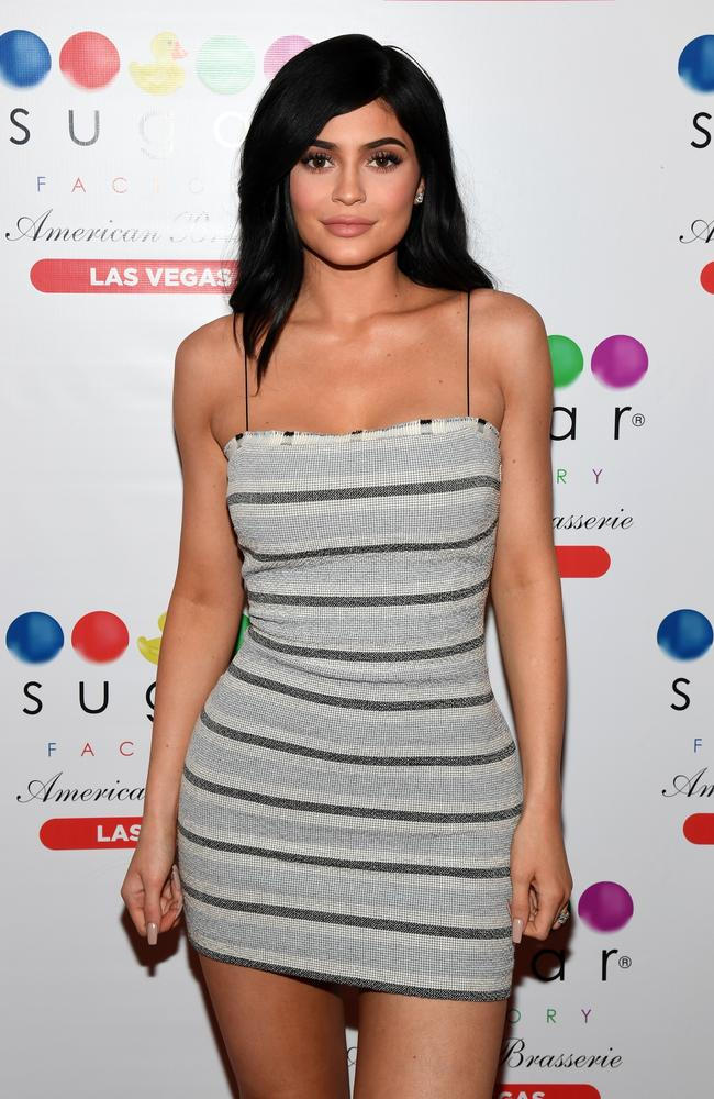 Kylie Jenner arrives at Sugar Factory American Brasserie at the Fashion Show mall on April 22, 2017. Picture: Getty