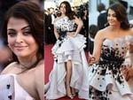"Aishwarya Rai poses as she arrives for the screening of the film ""Youth"" at the 2015 Cannes Film Festival. Pictures: Getty/AP"