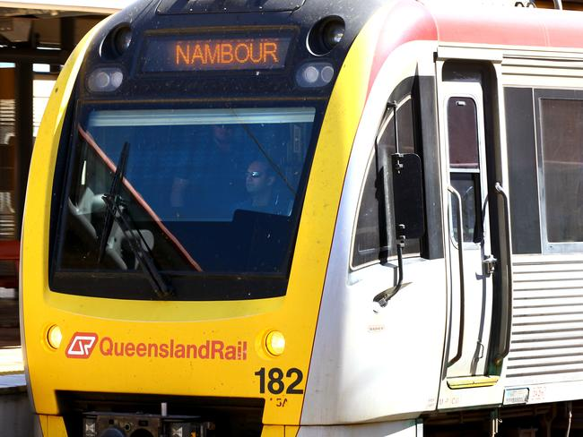 The man was hit in the face by one of the train's mirrors. Picture: David Clark/AAP
