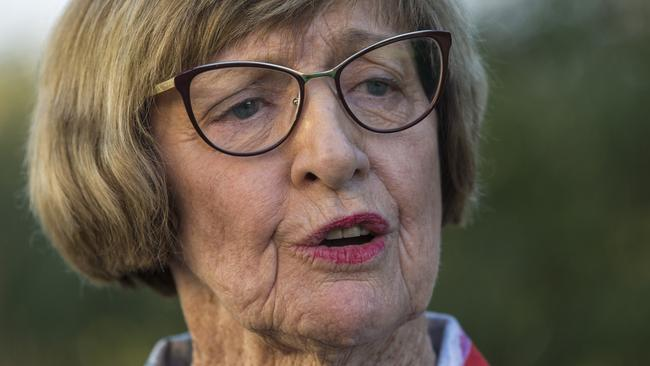 Margaret Court has said she may turn her back on the Liberal party due to the SSM vote. Picture: Ross Swanborough.