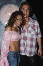 "Who knew? Janet Jackson and Matthew McConaughey briefly dated in the 2000s, according to ""But You Like Really Dated?"" by Ryan Casey. The couple managed to let their relationship fly under the radar after meeting at the Grammys in 2002. Picture: Getty Images"