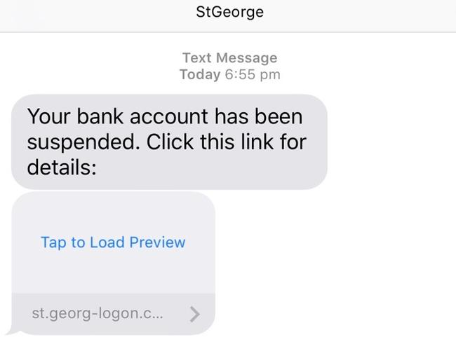 Nope, St George bank didn't sent this text.