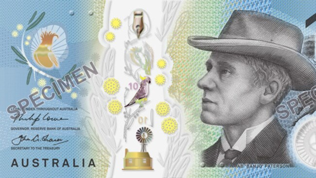 The new ten dollar note entered into circulation today.