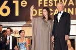 <p>US actress Angelina Jolie (L) waves as she poses with actor and director Clint Eastwood at the 61st Cannes International Film Festival, 2008.</p>