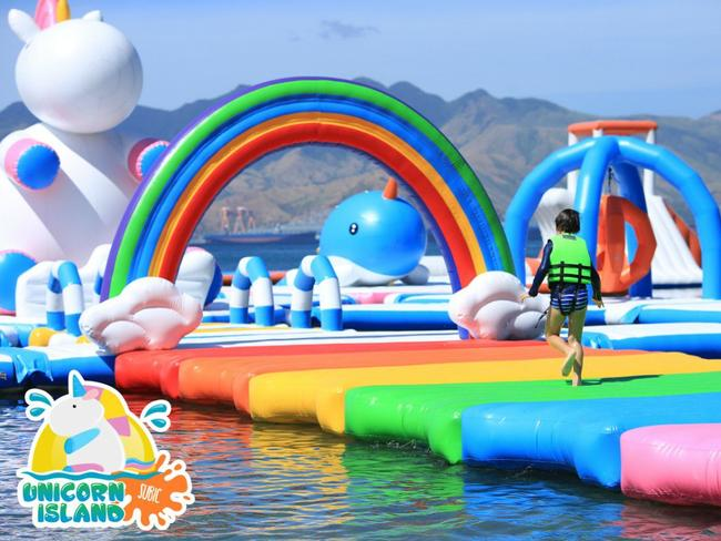 Can you see a rainbow? I can too. Picture: Inflatable Island