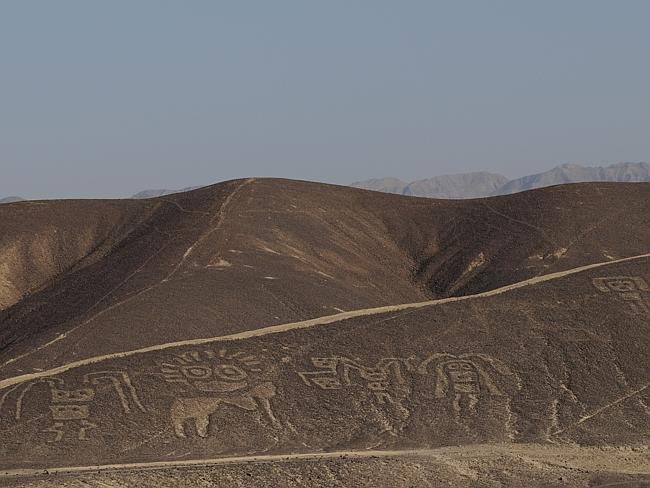 Scene from TV program 'Secrets of Nazca'. The Nazca Lines are huge geoglyphs.