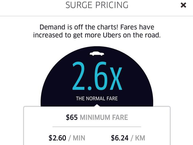 2.6 times the normal fare.