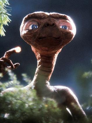 One of the most famous aliens, ET, in the 1982 movie of the same name.