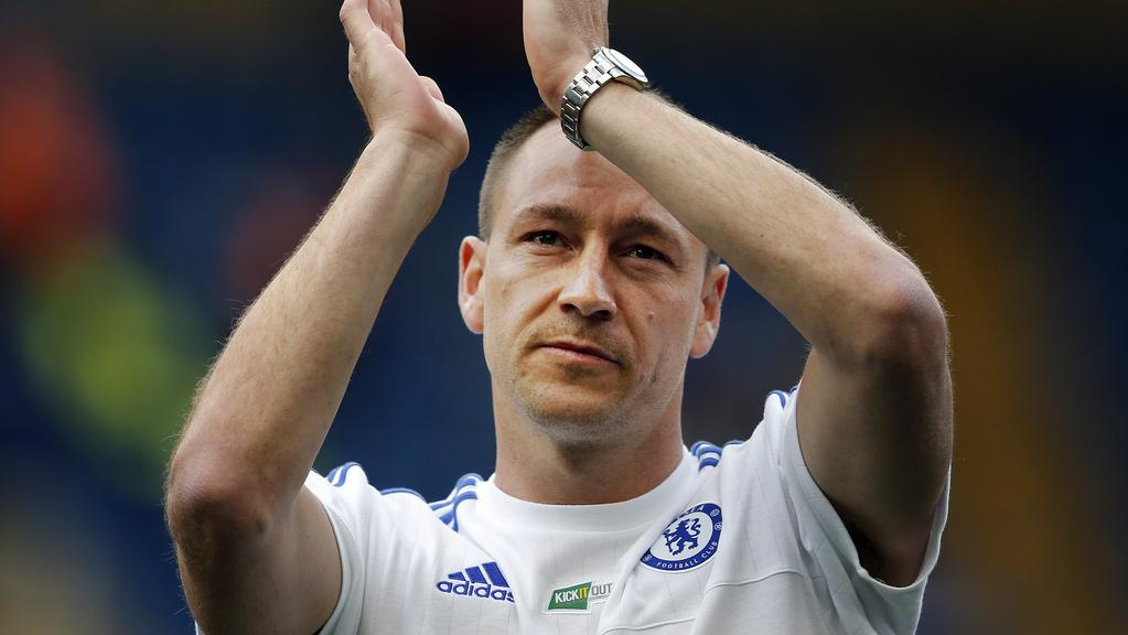 Chelsea's John Terry applauds to supporters.