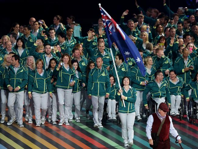 Granted, most of the Australian athletes were walking normally.