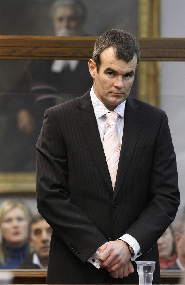 Ewen Macdonald on the first day of his trial. Picture: New Zealand Herald <p><b></b></p>