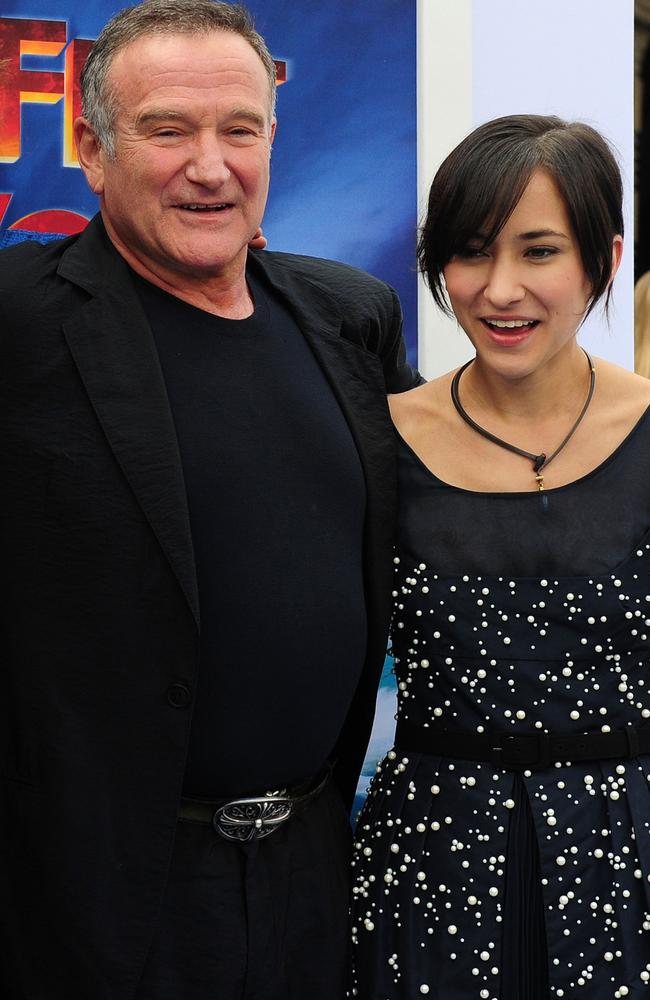 Caring dad ... Robin Williams with his beloved daughter Zelda. Picture: AFP