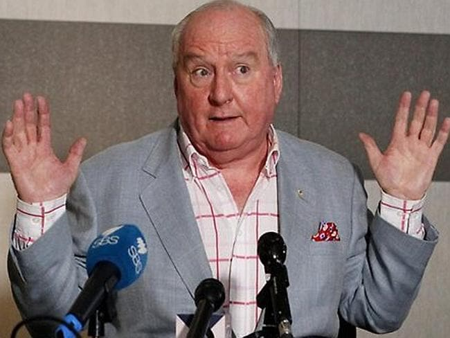 "At the dinner, Alan Jones infamously claimed that Julia Gillard's father ""died of shame"". Picture: News Corp Australia"