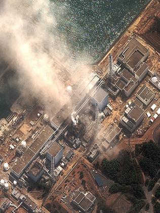 A satellite image of the damaged Fukushima Dai-ichi plant. Pic: AP/Digital globe.