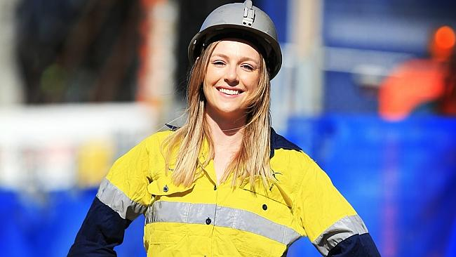 Beth Mackenzie, 22, is a mining engineering student who also works in Singleton / Picture: Nic Gibson
