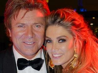 Richard Wilkins and Delta Goodrem at the 2017 Channel Nine Logies Coffee Club after party. Picture: Channel Nine