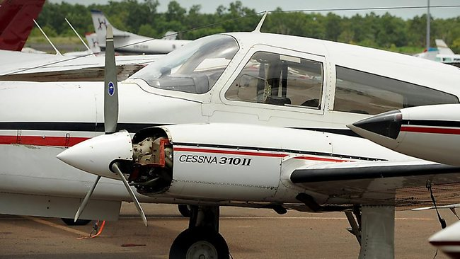 An Australia is one of four people missing after a small plane, similar to this one, went missing on Borneo island.