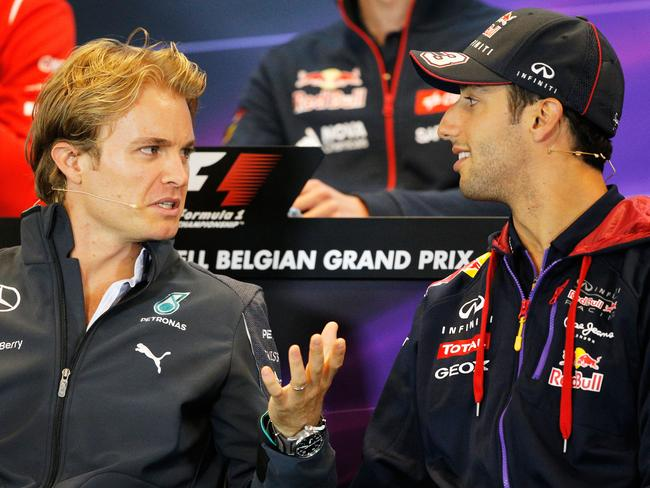 In that time Ricciardo has scored 102 points, Rosberg 98.