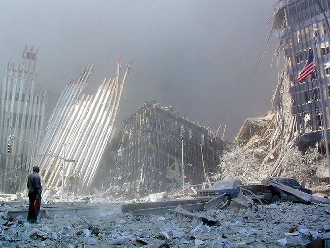 Engineers say that the World Trade Centers had an unusual design, where much of the structural load was carried by the exterior shell of the building rather than central columns. So when that shell was pierced, the buildings were weakened significantly, precipitating their collapse.