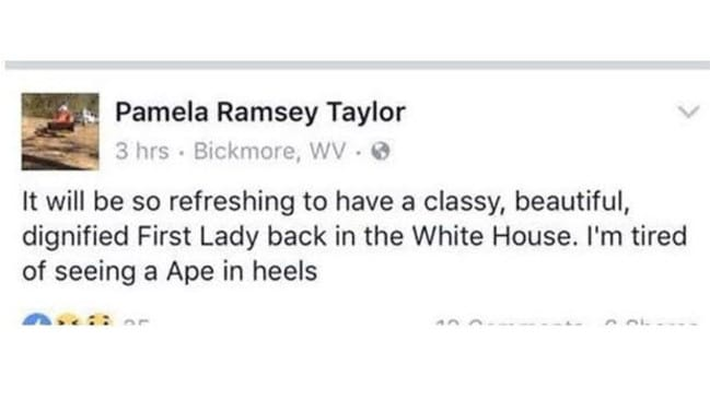 She deleted it, but this was Pamela Taylor's original Facebook post. Picture: Facebook.