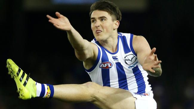 Aaron Mullett has been delisted by North Melbourne. Picture: George Salpigtidis