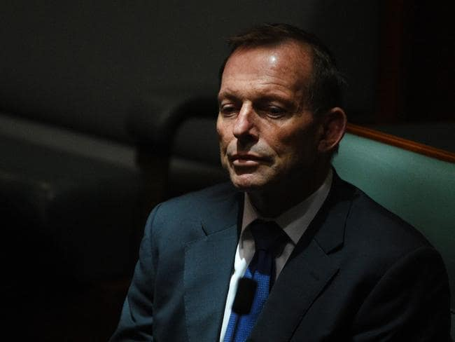 "Former Prime Minister Tony Abbott — who has publicly warned the scheme is ""effectively a tax on coal"" — was the most outspoken of the backbenchers at the three hour meeting. Picture: AAP Image/Mick Tsikas"