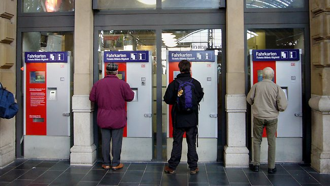 German police are warning rail travellers to be wary when using Deutsche Bahn's automatic ticket machines because criminals attempting to break into them may have left them filled with explosive gas. Picture: Michael Probst