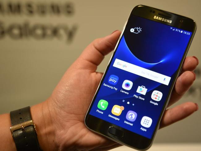 It's back ... The Samsung Galaxy S7 boasts the return of the memory card slot. Picture: Jennifer Dudley