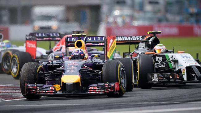 Ricciardo stormed past Perez before setting off for Rosberg.