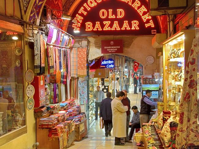 Prime tourist hotspot ... Istanbul's famous Grand Bazaar is one of the country's big tourist drawcards.