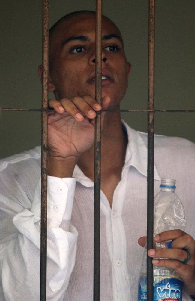 """Behind bars ... shortly before her death, Mrs Mack had called Schaefer """"just a n****r"""". Picture: Lukman S Bintoro."""