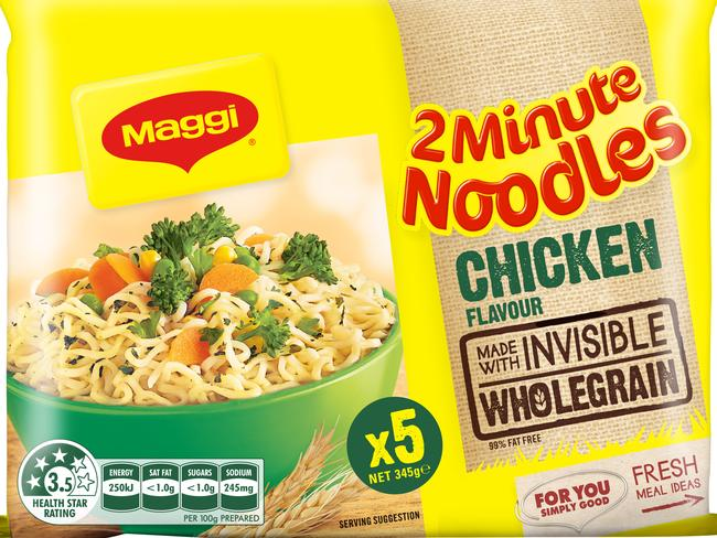 Wholegrain two-minute noodles were introduced a few years ago.