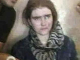 This image taken by a soldier from Iraq's Counter-Terrorism Service in July 2017 shows German teen Linda Wenzel after her capture by Iraqi forces in Mosul, Iraq. Wenzel, who ran away after converting to Islam and was found by Iraqi troops in Mosul, said she wants to go home, a German newspaper and broadcaster reported Monday, July 24, 2017. (Iraq Counter Terrorism Service via AP)