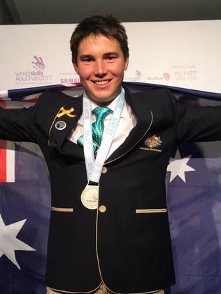 South Australia's Ryan Grieger brought home the silver. Picture: Monique Hore