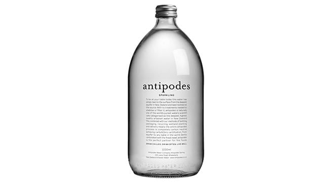 "Antipodes claims its water is one of the ""world's purest waters"". Picture: Antipodes."