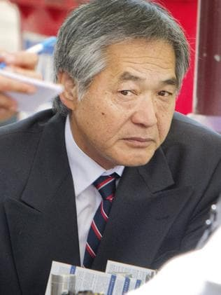 Masaaki Imaeda at court for his hearing about his shanty town. Picture: Jenny Evans.