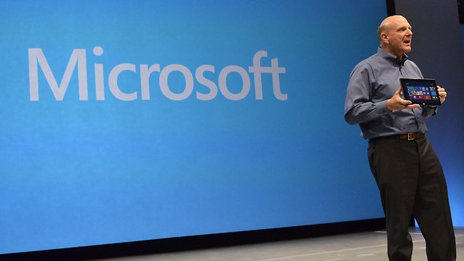 "Microsoft's new tablet Surface is the head of a ""whole new family of Microsoft computing devices"". Picture: AFP"