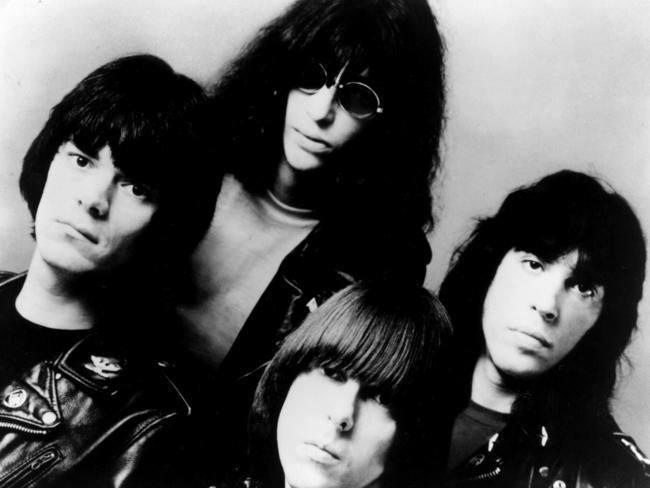 Inflential ... Members of punk music rock band 'The Ramones'.
