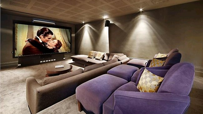 VIZARD'S ST KILDA MANSION: The new owners will be sure to get the popcorn out in the theatre room.