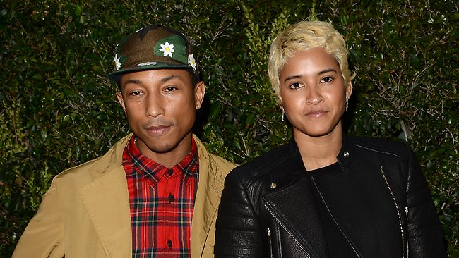Pharrell Williams has married model Helen Lasichanh. The couple are parents to four-year-old Rocket Man. Picture: Jason Merritt