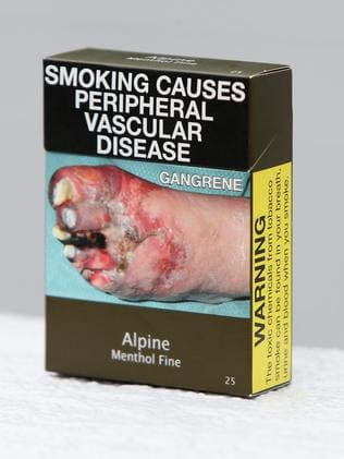 Plain packaging with a grim health message is working. Picture Supplied