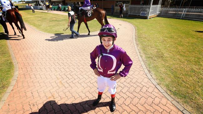 Apprentice jockey Luke Tarrant stands just 152cm tall and weighs 47kg.
