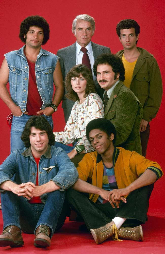 Welcome Back Kotter ... Robert Hegyes, John Travolta, John Sylvester White, Marcia Strassman, Lawrence Hilton-Jacobs, Gabe Kaplan and Ron Palillo.