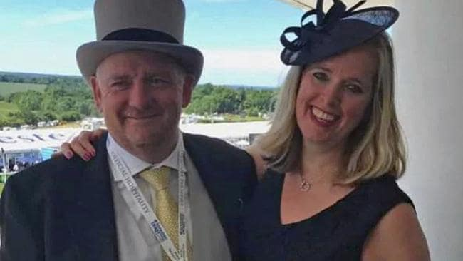 Richard Cousins and his fiancee Emma Bowden. Picture: Supplied