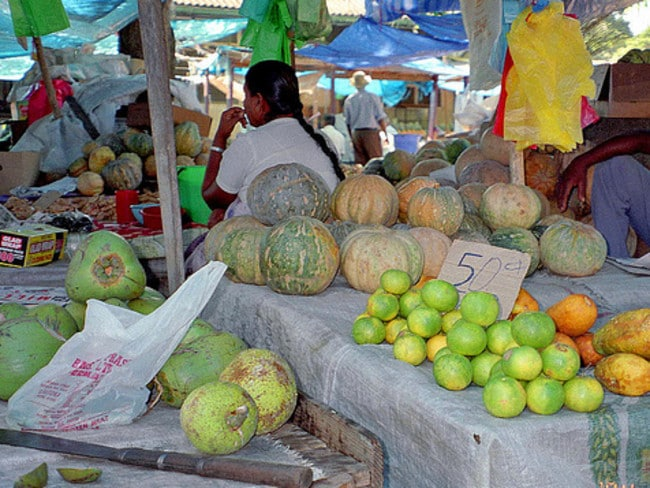 There's plenty of great fruit for sale at the market in Nadi. Picture: Flick Ik T