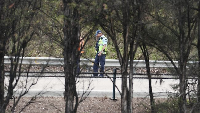 INVESTIGATION: Police remained at the scene of the accident for hours afterwards. PIC: Tim Marsden